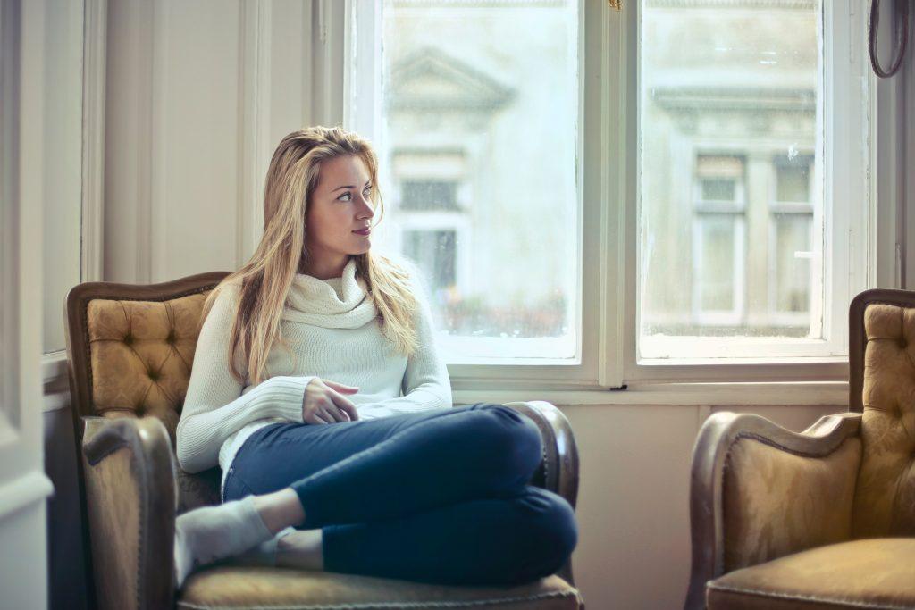 girl in armchair